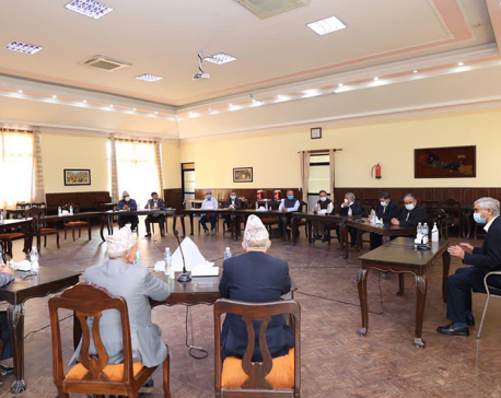 Meeting of coalition partners underway to give full shape to the cabinet