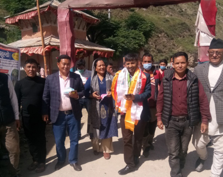 UML central member Bishnu Rijal reaches Dolpa to prevent cadres from joining CPN (Unified Socialist)