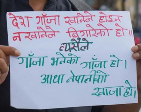 Demonstration held in Kathmandu to exert pressure on govt to legalize marijuana