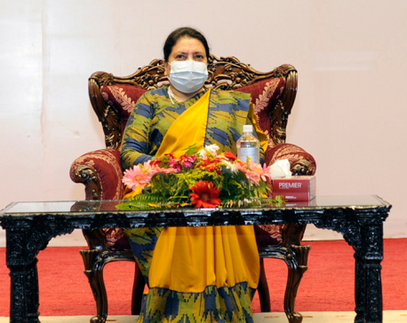 President Bhandari suggests to people's representatives to formulate plans of public interest