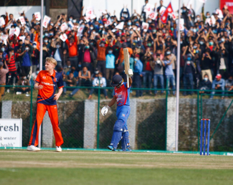 Nepal thrashes Netherlands by nine wickets in T-20 Series (with photos)