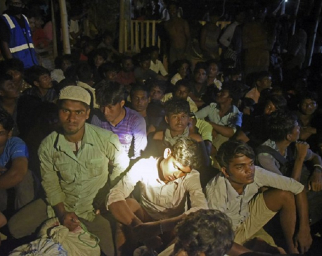 Almost 300 Rohingya found on beach in Indonesia's Aceh