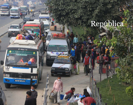 IN PICS: People leaving Valley in hordes for Dashain