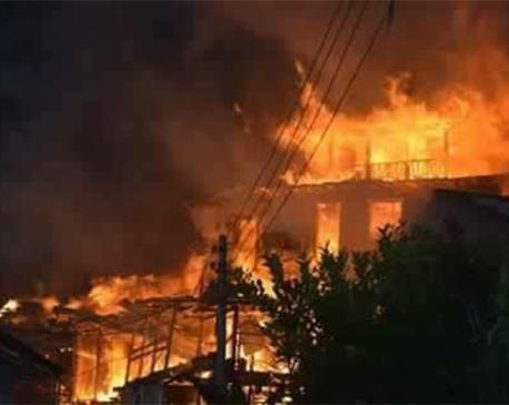 Fire destroys 32 homes in Tehrathum