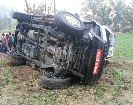 3 killed  in Dhading jeep mishap