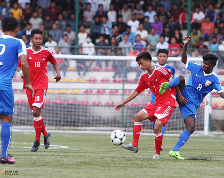 SAFF U-15:  Nepal into semi-final despite loss to India 1-2 (photo feature)