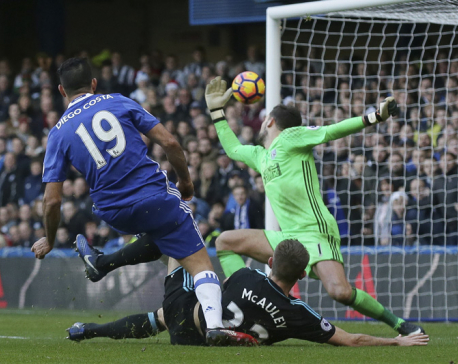 Costa rescues another win for Premier League leader Chelsea