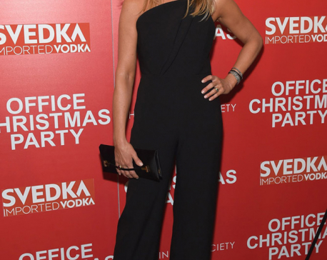 Jennifer Aniston wows in 3554 pounds worth jumpsuit at 'Office Christmas Party' premiere