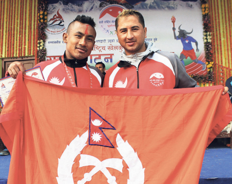 Karateka Mukunda makes gold hat-trick in National Games