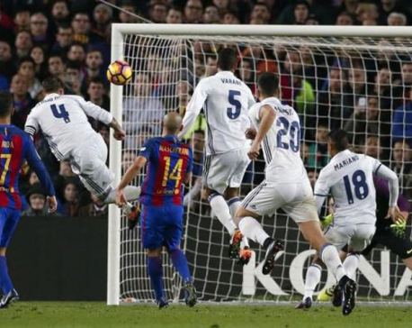 Late Ramos header denies Barcelona in Clasico