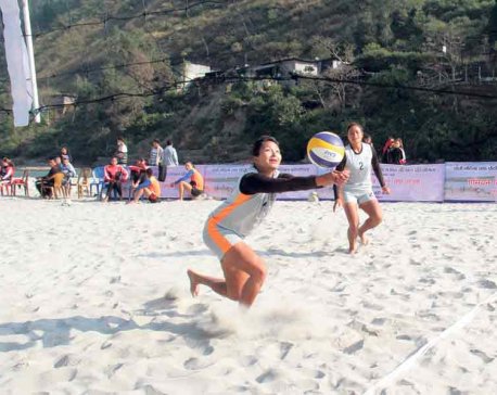 Departmental teams dominate beach volleyball