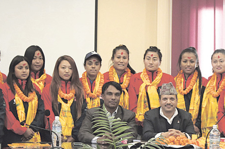 Nepali women's cricket team felicitated
