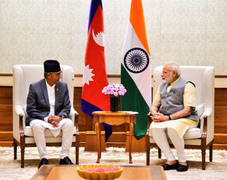 Indian PM Modi welcomes PM Deuba