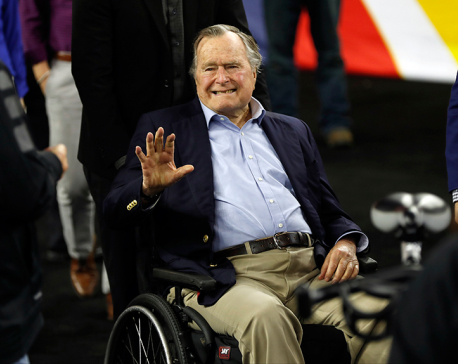 Former US President George H.W. Bush and wife hospitalized