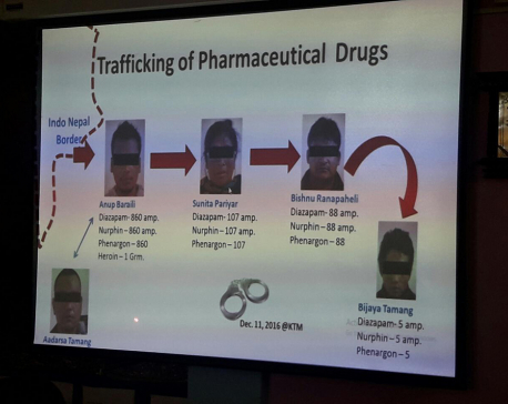 Five held for trafficking controlled narcotics drug