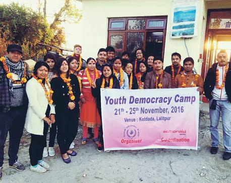 Youth Democracy Camp at Kotdanda