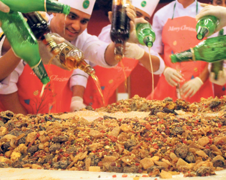 Hotel Annapurna organizes cake mixing ceremony