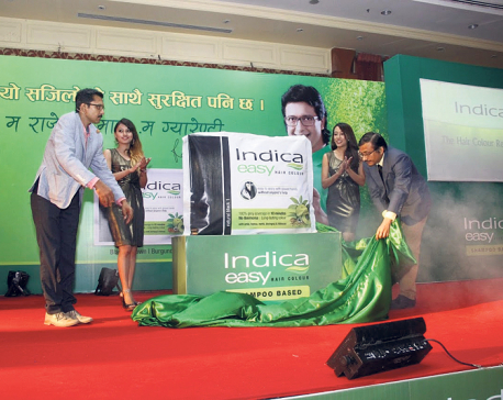 Rajesh Hamal new face of Indica hair products