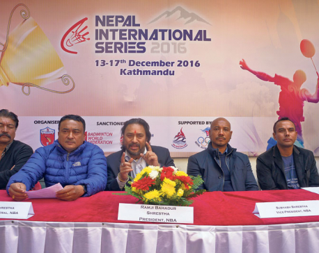 Int'l badminton series in Nepal from Dec 13