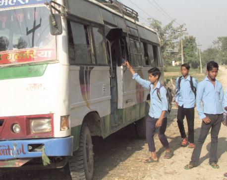 School bus brings respite, but fear looms large