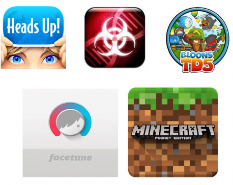 The top 5 iPhone and iPad apps on App Store