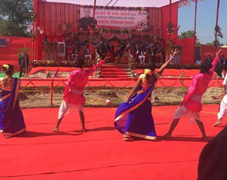 Indian President Mukherjee arrives in Janakpur