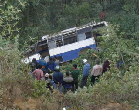 13 injured in bus accident in Pokhara