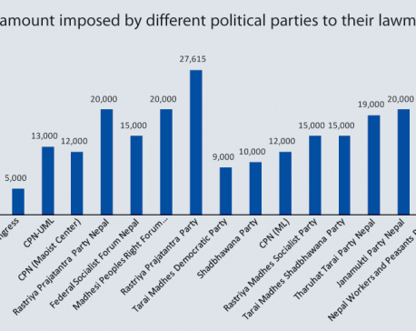 Political parties collect up to 50 percent levy from lawmakers