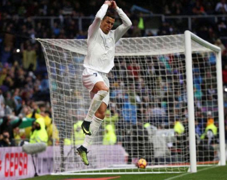 Ronaldo double as Real ride luck to beat Sporting