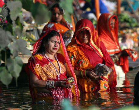 Chhath festival begins by worshipping the sun