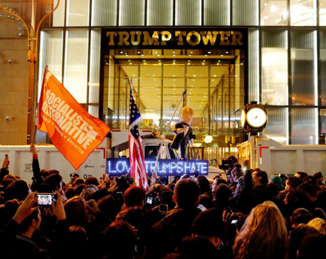 Thousands of anti-Trump protests take to streets of U.S. cities