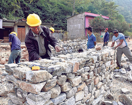 First tranche grant to quake survivors from designated banks in Bhaktapur