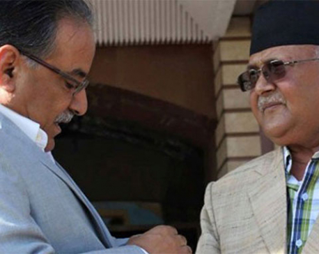 PM Dahal, leader Oli meet to discuss latest political scenario