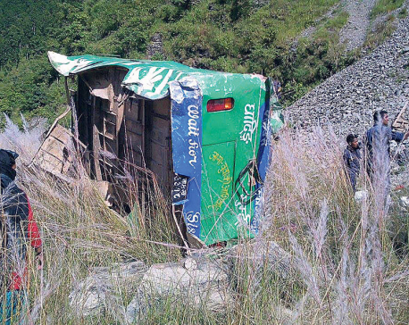 19 perish in Dhading bus accident