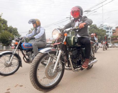Kathmandu's gentlemen riders promote men's health