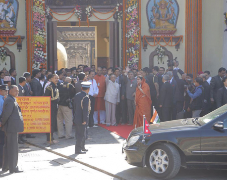 Indian President conducts special pooja at Pashupatinath Temple
