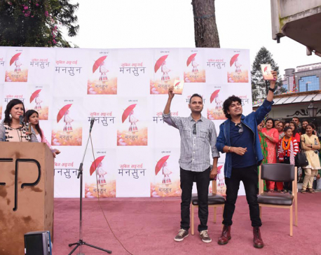 Subin Bhattarai releases new novel Monsoon