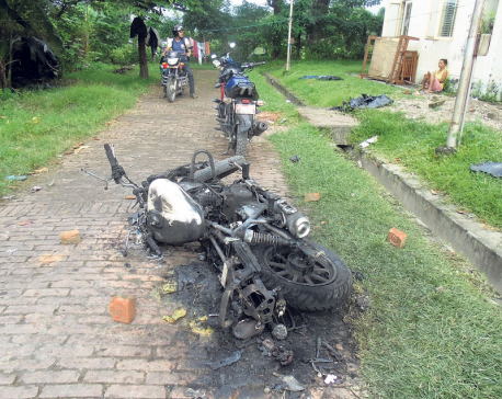 Burnt bikes bring to fore security lapses at Dharan hospital