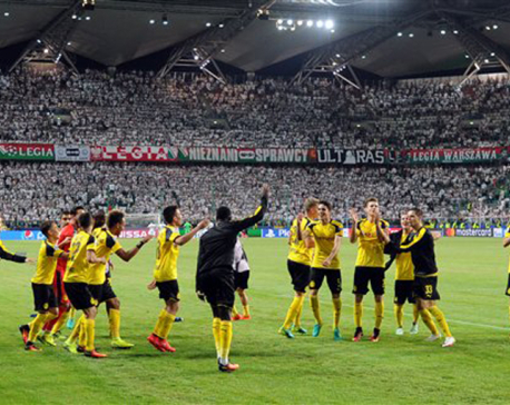 Dortmund spoils Warsaw's return to the champions league