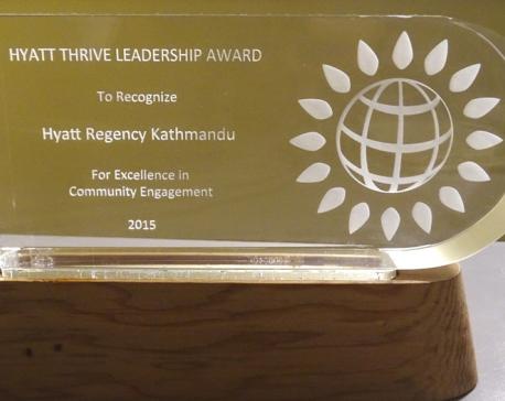 Hyatt Kathmandu bags leadership award