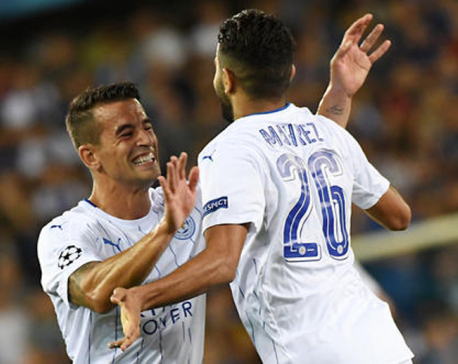 Mahrez scores a brace as Leicester defeat Brugge in their debut CL campaign