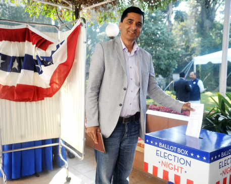 Mock election in Kathmandu as US presidential vote count underway (photo feature)