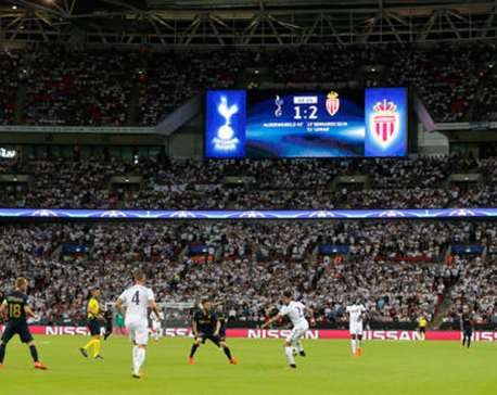 Monaco beats Tottenham at Wembley