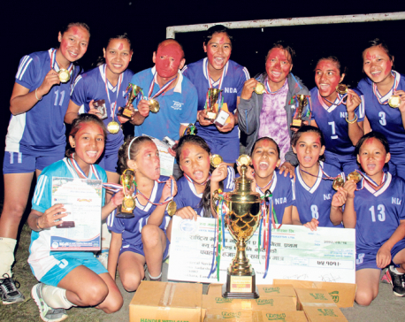New Diamond clinches volleyball title