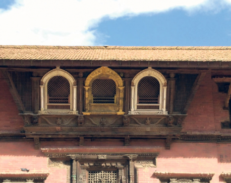 17th-century window set at Patan Durbar Square restored