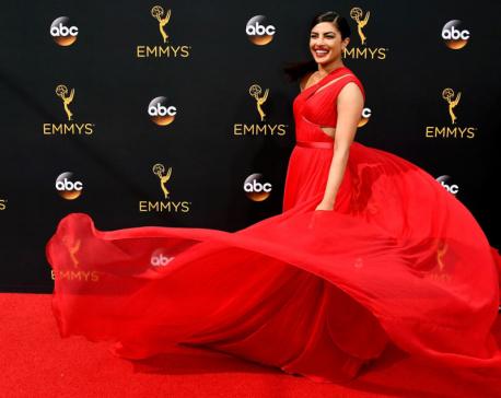Priyanka Chopra keeps it 'simply red' at Emmys red carpet