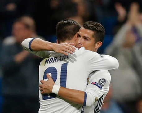 Ronaldo and Morata scores to spoil Sportings's party