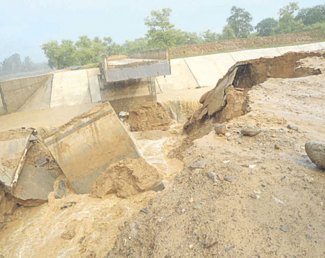Sikta irrigation canal crumbles during trial run