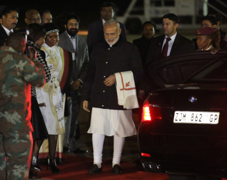 India's Modi in South Africa for trade, remembering Gandhi