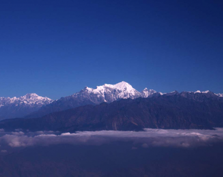 Breathtaking aerial view of vicinity of Kathmandu Valley